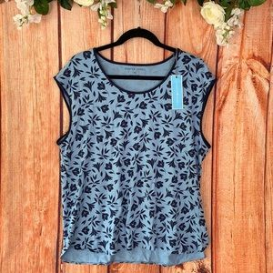 NWT Draper James Sleeveless Floral PJ Shirt 1667